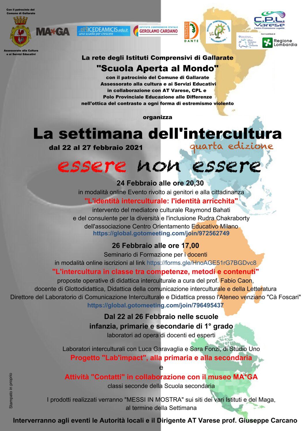 SETTIMANA DELL'INTERCULTURA -4^EDIZIONE